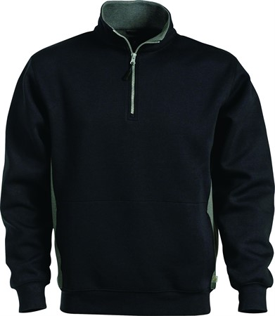 Sweatshirt kort zip