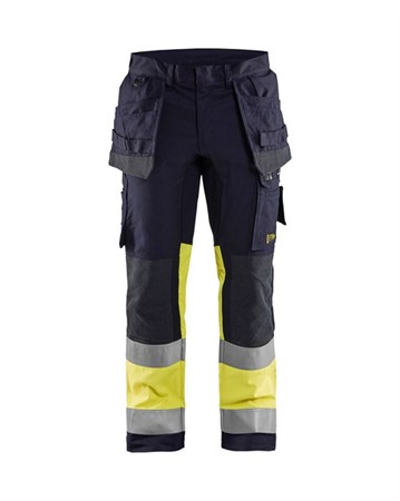 Flame stretch trousers class 1 Marinblå/Gul C46