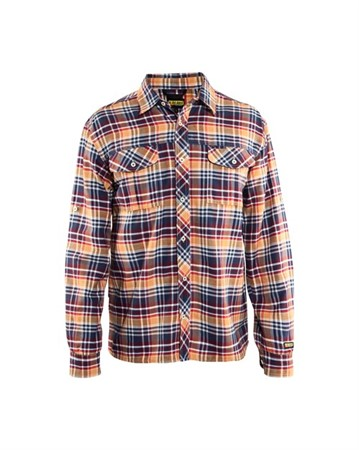 Flanellskjorta Navy/Orange M