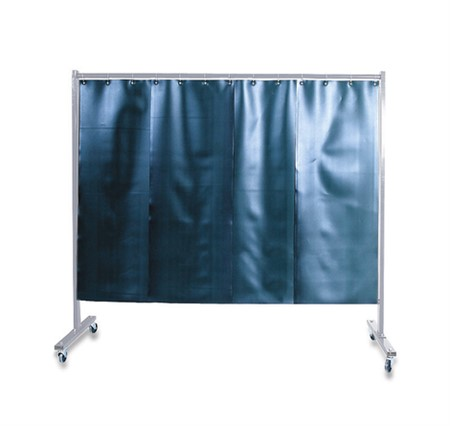 1-Panel Protective Screen With Curtain - Wheel set