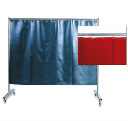 1-Panel Protective Screen With Protection Strips - Red
