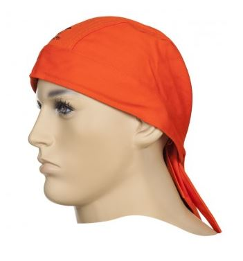 Fire Fox doo-rag för svetsning, flamskyddsbehandlad orange
